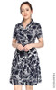 Wrap Front Dress - Abstract Print