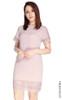 Crochet Trim Shift Dress - Dusty Pink