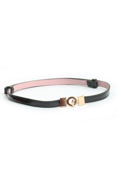 Thin Waist Belt - Black