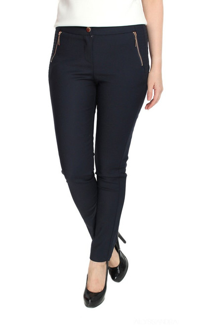 Side Seamed Pencil Pants - Midnight Blue