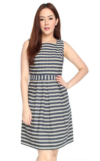 Striped Square Neck Dress