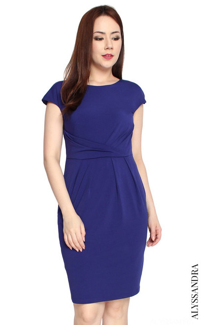Jersey Sheath Dress - Indigo