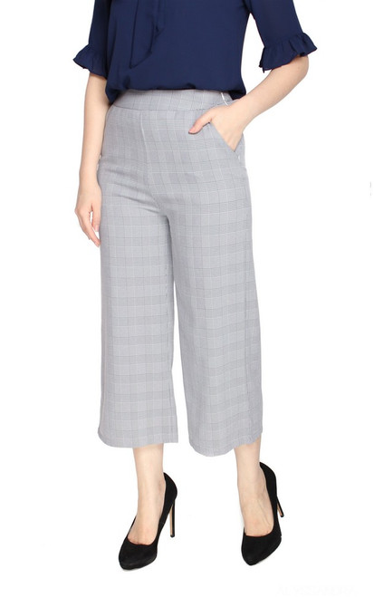 Checkered Culottes - Black