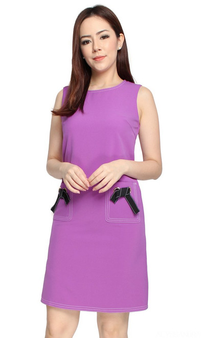 Pockets Shift Dress - Orchid