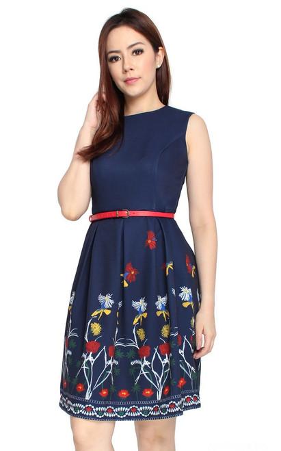 Printed Hem Dress