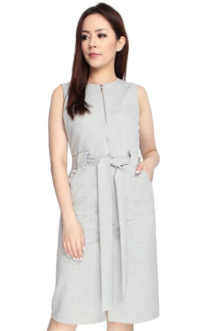 Zipper Dress - Heather Grey