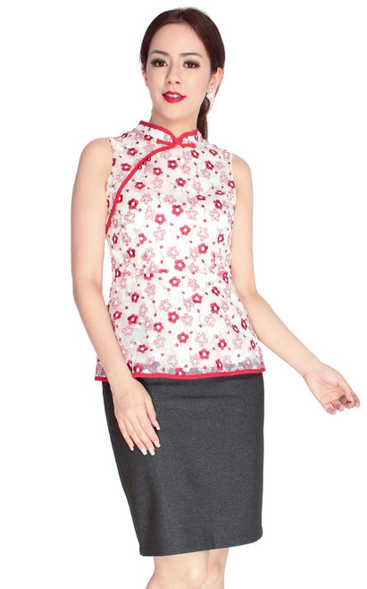 Embroidered Cheongsam Top
