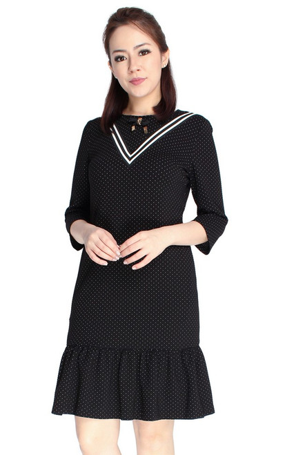 Dotted Drop Waist Dress