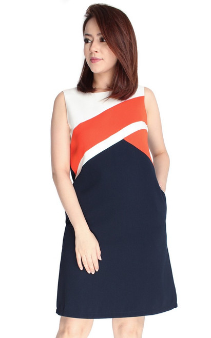 Colourblock Shift Dress