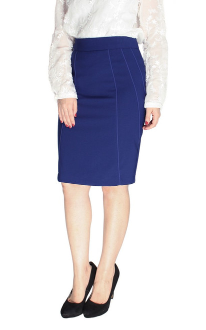 Contour Pencil Skirt - Cobalt Blue