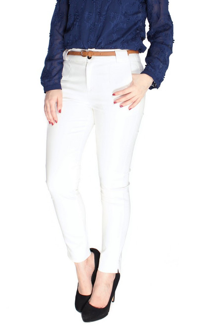 Basic Pencil Pants - White
