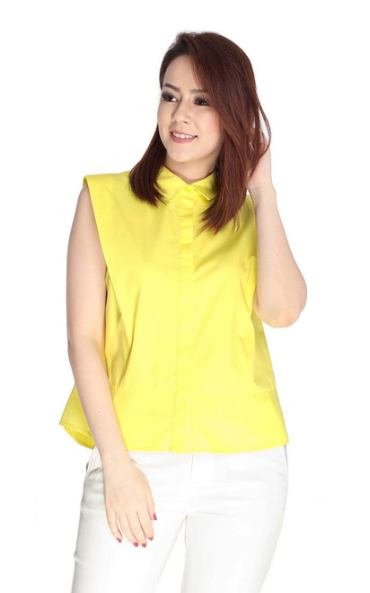 Structured Shirt - Lemon
