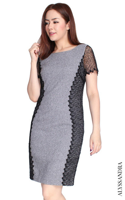 Lace Sides Hourglass Dress