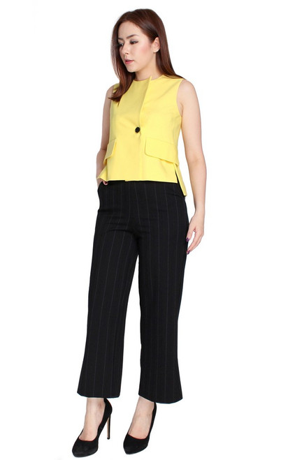 Button Vest Top - Yellow