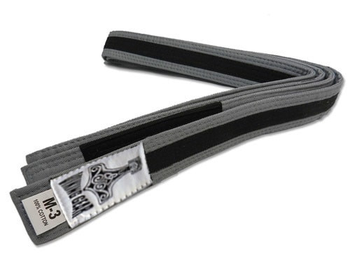 Kids Viking Gear Gray and Black BJJ Belts