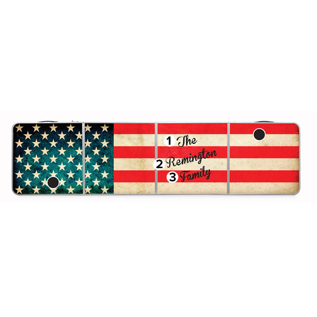 Custom Beer Pong Table - American Flag