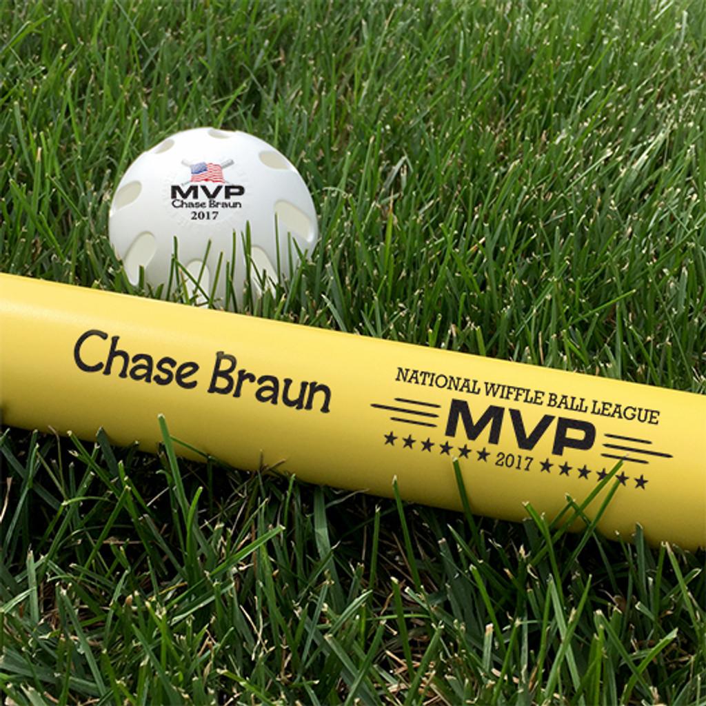 Customized Wiffle Ball and Bat Set - MVP