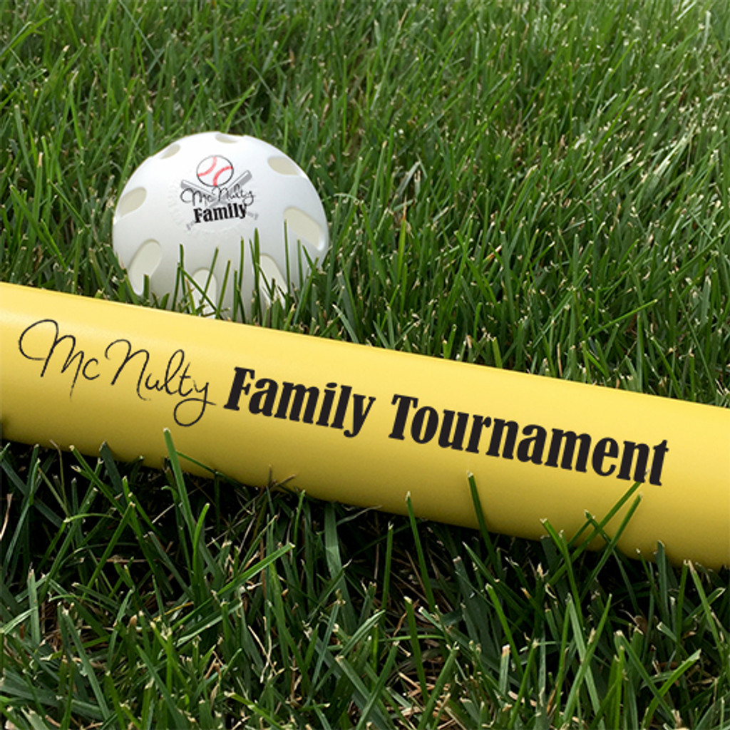 Customized Wiffle Ball and Bat Set - Tournament