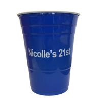 Custom Beer Pong Cups - Blue