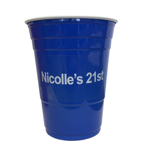 Custom Beer Pong Cups - Blue