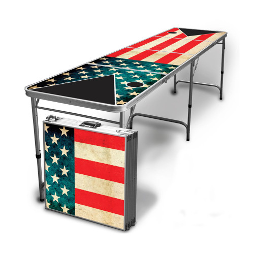 Vintage American Flag Beer Pong Table
