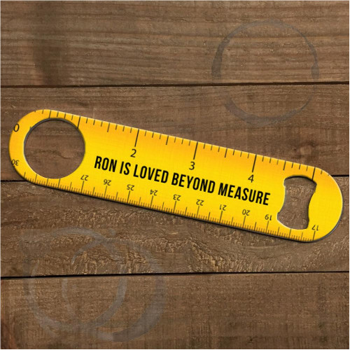 Custom Bottle Opener - Ruler