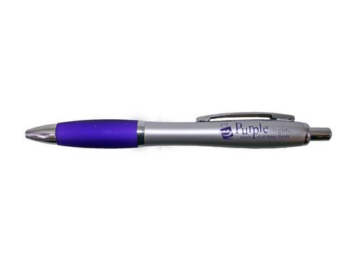 Purple Ink Hourglass Pen