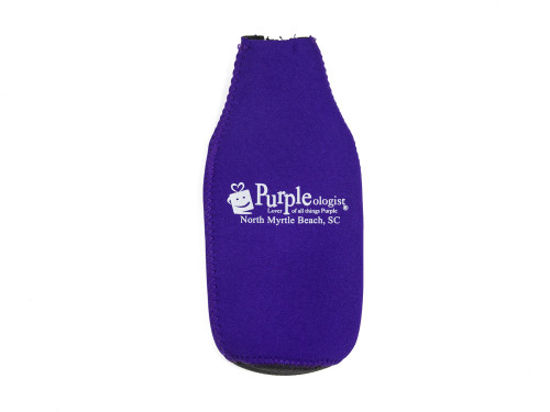 Purpleologist Logo Koozie and Bottle Opener