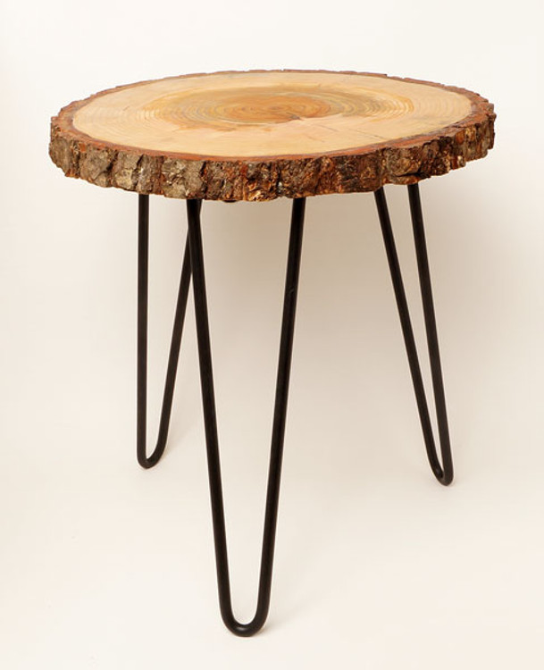 Oregon Native Tree Ring End Table