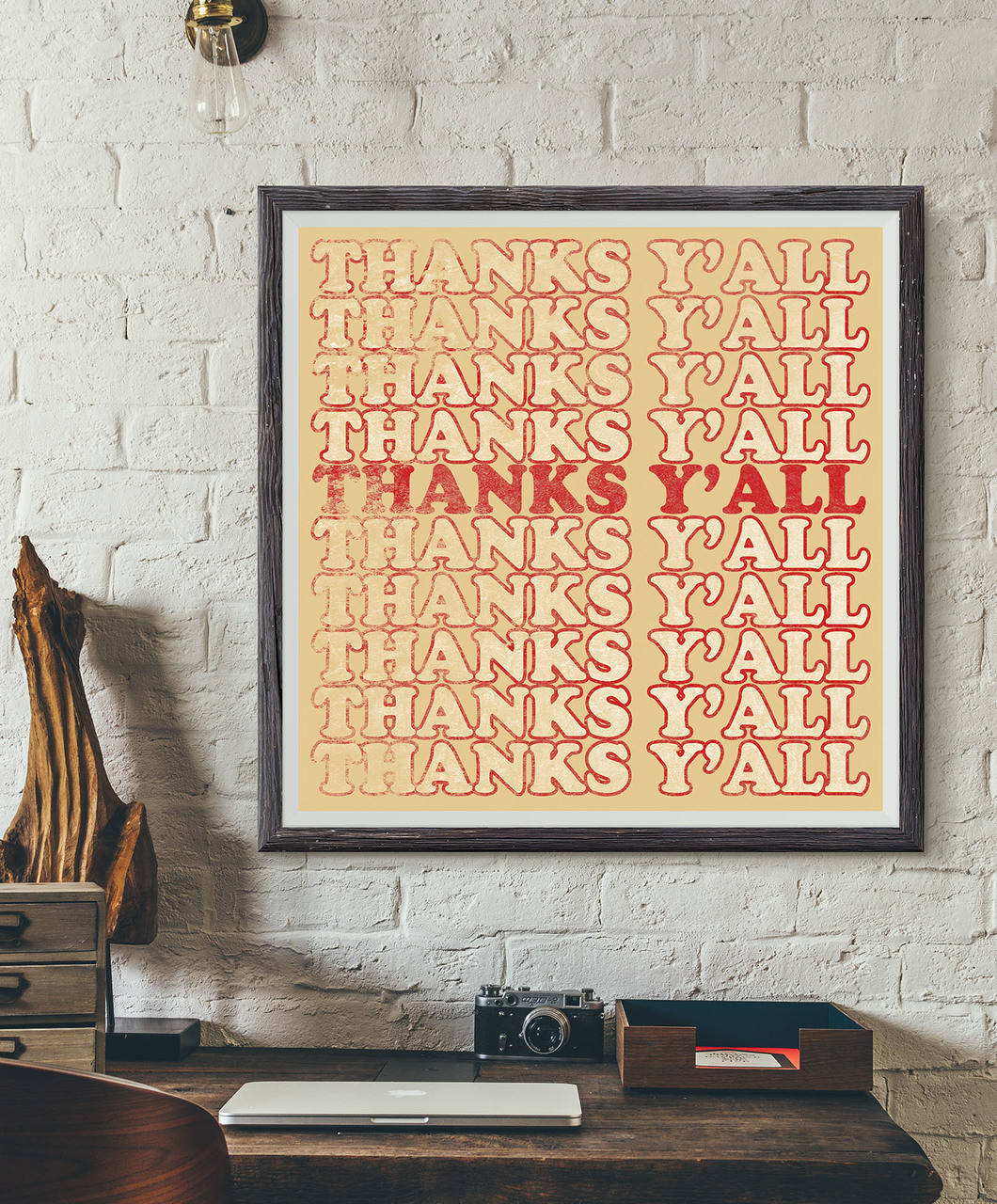 Thanks Ya\'ll | Modern Art Print | Sort of Cool