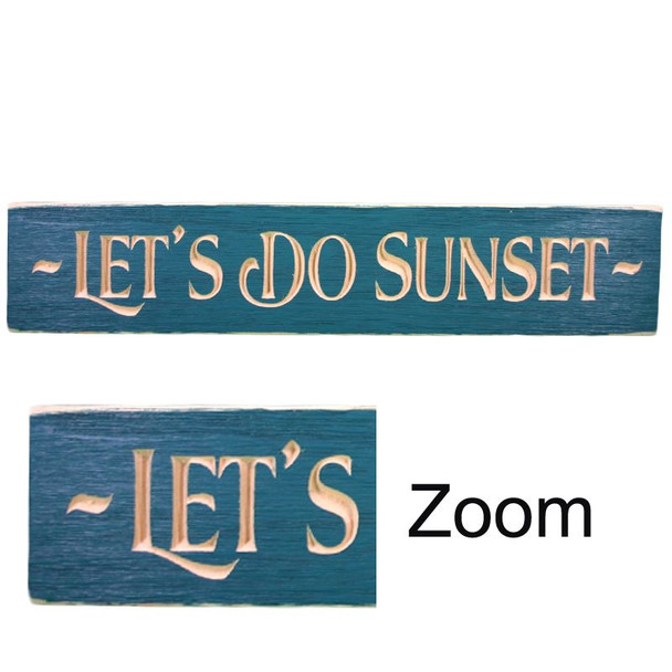 """24"""" USA LET'S DO SUNSET ROUTED"""