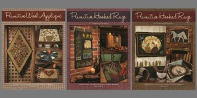 Rug Hooking and Wool Applique Book Bundle (print)