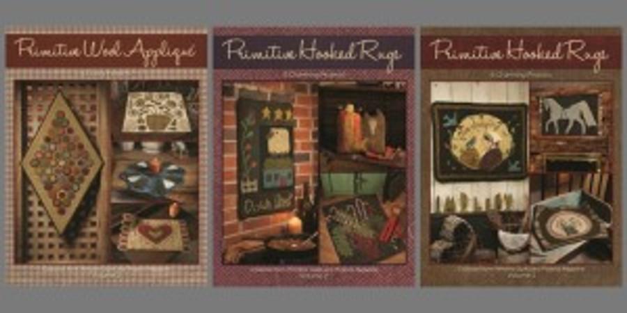 Rug Hooking and Wool Applique Book Bundle (print)
