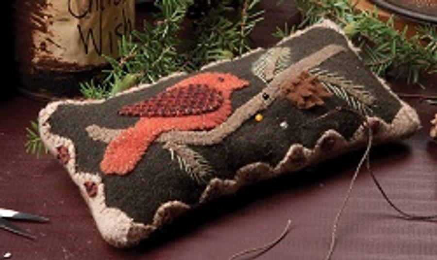 Redbird Pin Cushion by Nancy Conn