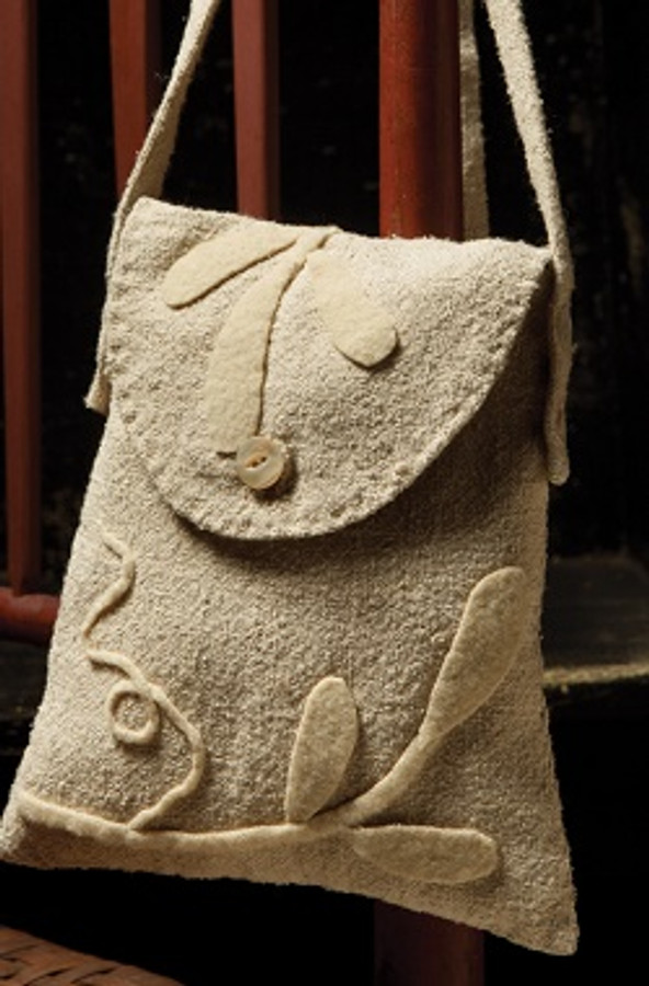 White-on-White Wool Applique Bag by Maggie Bonanomi