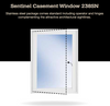 Sentinel Casement Hurricane Impact Window Series 238SN Stainless steel package comes standard including operator and hinges complementing the attractive architectural sightlines.