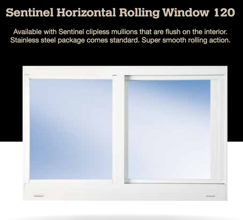 A horizontal rolling window operates similarly to a sliding door. The sash slides open making it perfect for bedroom egress requirements and is a  popular style for contemporary and modern homes. With the addition of modern impact hurricane resistant technology, and you have a beautiful and functional addition to your home, with the added security of hurricane impact resistance.