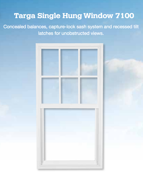 A single hung window is a traditional style sash operable window that opens without using any interior or exterior space. Combine this style with impact hurricane resistant technology and you have a perfect choice for most living areas in your home.