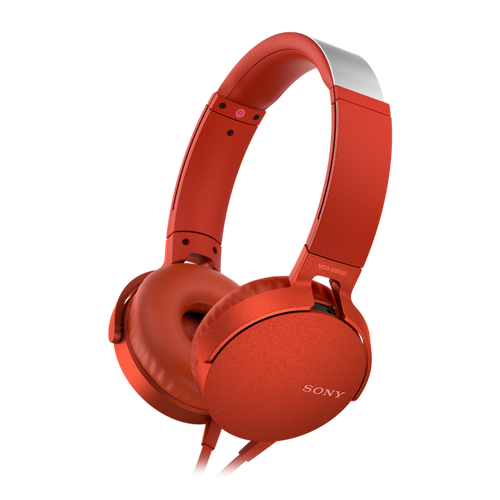 Sony MDR-XB550AP EXTRA BASS Headphone with in-line remote & mic, Red
