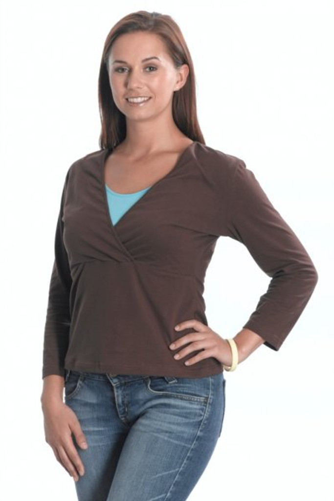 Emma Jane Nursing 3/4 Length Sleeved Top