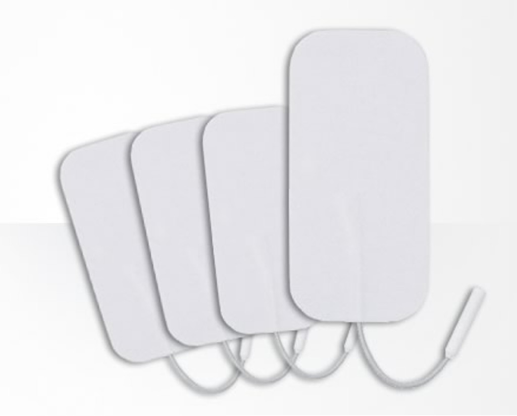 superior silver maternity tens machine electrodes - 1 pack of 4 (44x95mm)