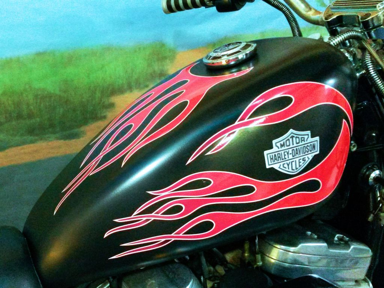 No. 6 Layered Hot Rod | Flame decals | Cherry Red | 6pc set
