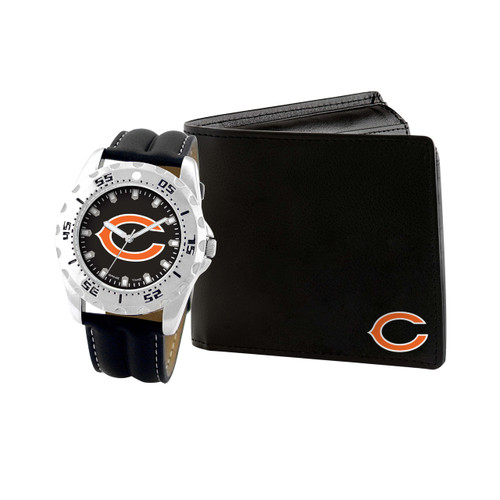 WATCH AND WALLET GIFT SET CHICAGO BEARS