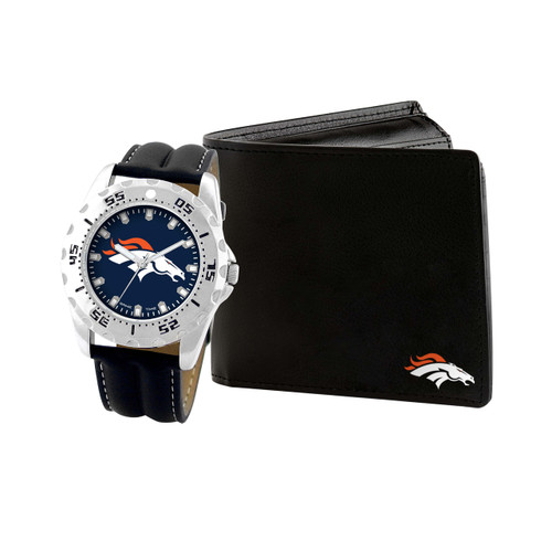 WATCH AND WALLET GIFT SET DENVER BRONCOS