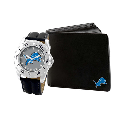 WATCH AND WALLET GIFT SET DETROIT LIONS