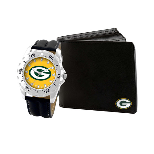 WATCH AND WALLET GIFT SET GREEN BAY PACKERS