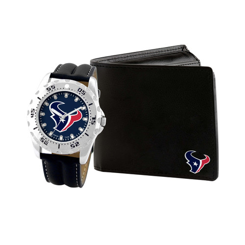 WATCH AND WALLET GIFT SET HOUSTON TEXANS