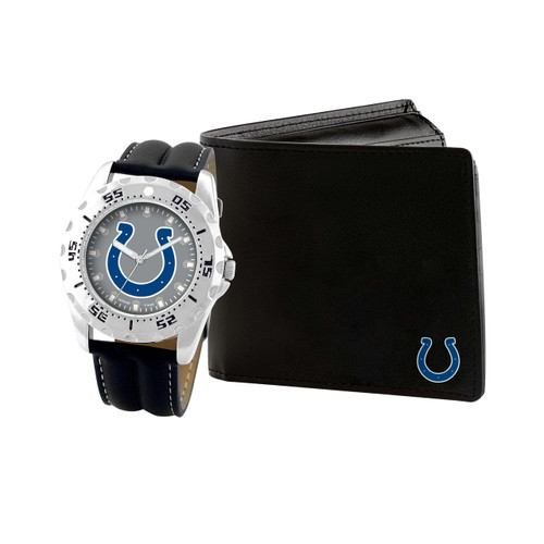 WATCH AND WALLET GIFT SET INDIANAPOLIS COLTS