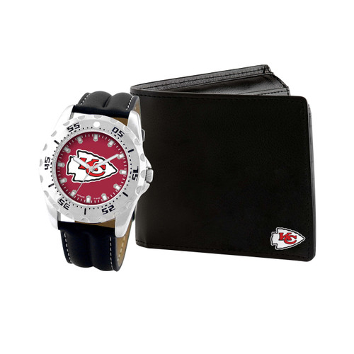 WATCH AND WALLET GIFT SET KANSAS CITY CHIEFS