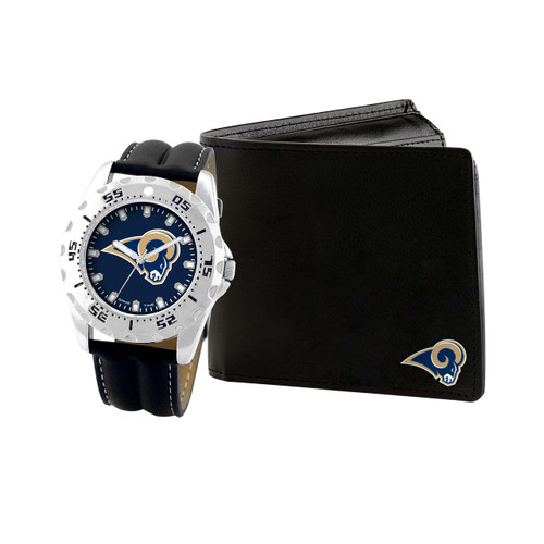 WATCH AND WALLET GIFT SET LOS ANGELES RAMS